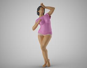 3D print model Woman Hide Face from Sun