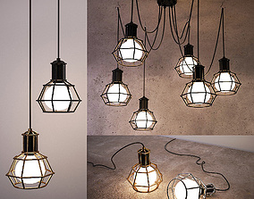 Ceiling lamps set 028 3D model