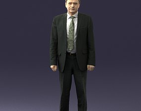 Man in plaid tie 0614 3D Print Ready