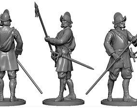 3D print model miniatures Spanish Conquistador - Pikeman