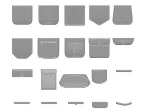 Pockets 3D asset low-poly