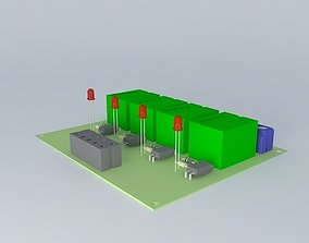 Driver Relay 3D model electronica