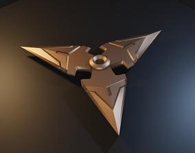 Overwatch - Genji Shriken - STL files for 3D