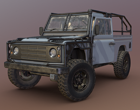 Land Rover Defender - Conqueror 3D asset low-poly
