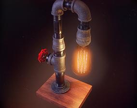 DIY pipes lamp 3D asset