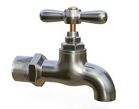 3D Water tap metal