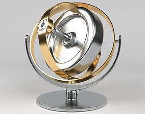 chrome Gyroscope 3D model