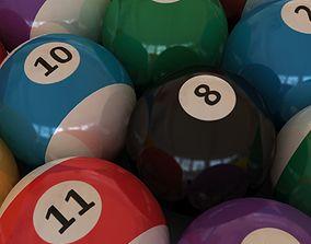 3D model animated Pool Balls