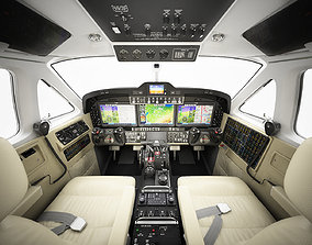 3D Beechcraft King Air c90gtx interior