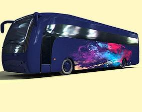 3D Blue Galaxy Bus 5