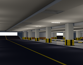 Parking Underground Low Poly 3D model