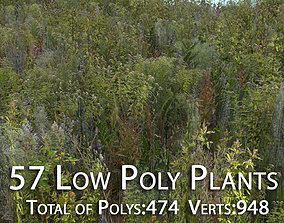 57 Low Poly Plants 3D model