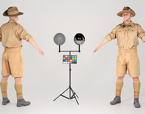 Character of WW 2 Australian soldier in A-pose 3D asset