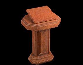 3D asset Wood pulpit