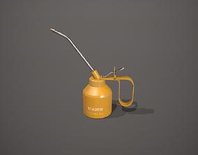 Yellow Oil Can 3D asset