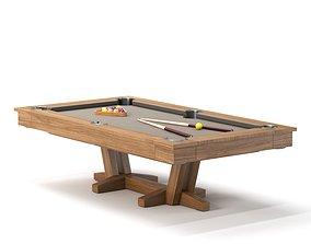 PETALUMA POOL TABLE 3D model