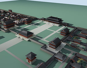 3D model Chinese Style Architecture traffic