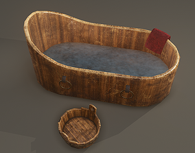 Medieval Wash Tub 3D model VR / AR ready