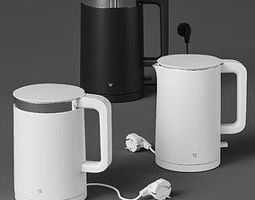3D model Xiaomi electric kettle set