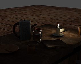 Medieval Age Tavern Model Pack 3D asset game-ready