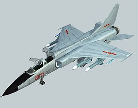 3D asset China PLA Air Force JH-7