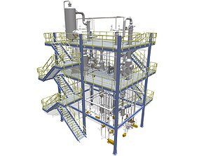 3D printable model Process Plant UAE - Assembly
