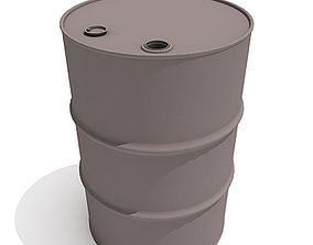 3D Classic Oil Barrel