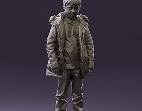 Serious kid in winter jacket 0808 3D Print 1