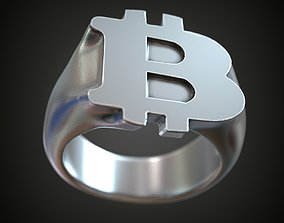 3D printable model Ring BitCoin crypto currency signet