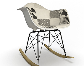 Rar Rocking Chair Eames 3D model