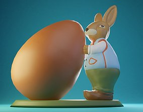 3D print model Easter Bunny Robert with a Giant Egg