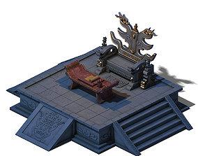 3D Huanglongshan - stone hall throne 02