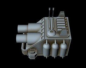 3D model Starship part 6