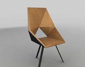 3D model Geometric Wooden Armchair