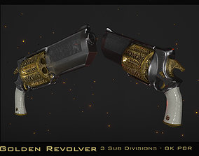 3D model realtime Golden Revolver