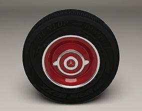 Old Mercedes Wheel 3D asset