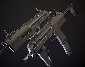 Mp7 submachine gun 3D model low-poly PBR