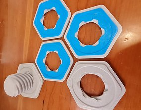 3D printable model Bolt and Nut Coaster