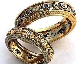 Gold Metal Rings 500 3D printable model