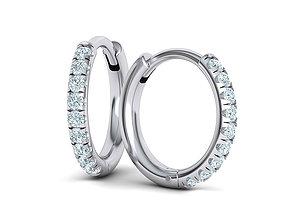 Hoop earrings French Pave setting 3dmodel