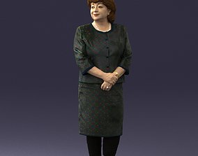 Lady in gray suit 0620 3D Print Ready 3dscan