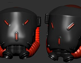 High quality scifi helmet high 3