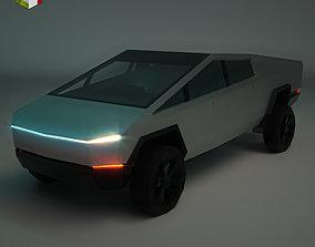 3D model Low Poly Sci-Fi Car 01
