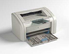 game-ready HP LaserJet 1018 printer low-poly 3d model