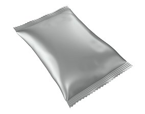 Blank candy plastic package mock up 01 3D model
