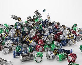 Aluminum cans 3D
