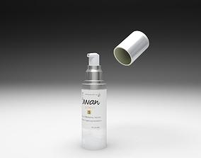Cream bottle 3D model animated