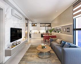 P Apartment interior Livingroom B1 3D model