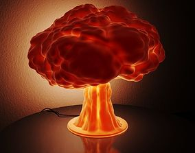 3D print model Lamp - nuclear explosion