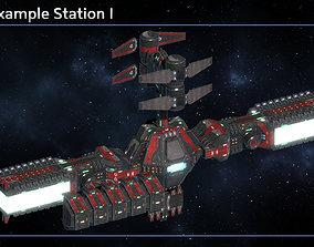 Modular Space Station Mars 3D asset